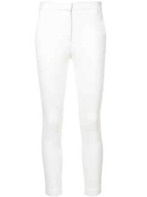Rosetta Getty Crop Skinny Trousers in Ivory Pants