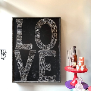 Sugarboo & Co LOVE Framed Oversized Artwork Gifts Home decor