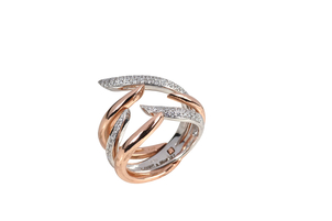Kavant & Sharart Duo Claw Stack Diamond Ring Jewelry
