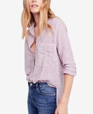 Free People No Limits Stripe Button Down Tops
