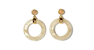 Lizzie Fortunato Sun Bleached Hoops Jewelry