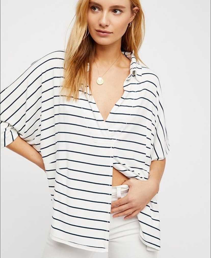 Free People Striped Cant Fool Me Tee Tops