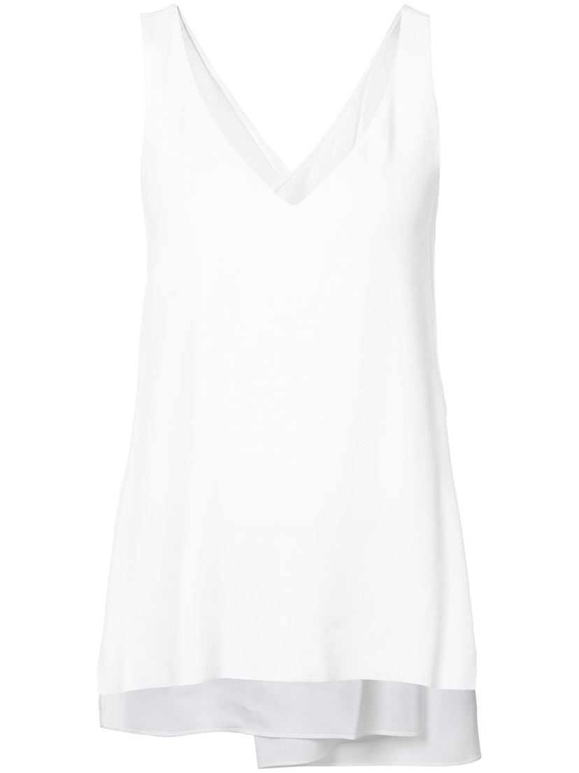 Rosetta Getty White Twist Back Tank Tops