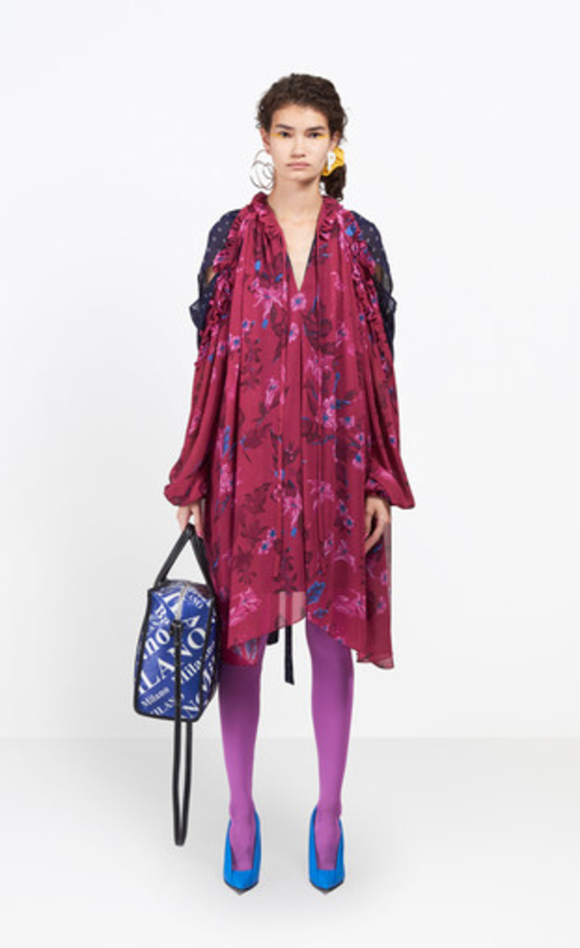 Balenciaga Semi Fitted Floral Dress Dresses