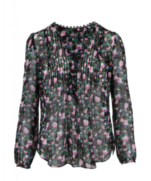 Veronica Beard Lowell Floral Blouse Tops