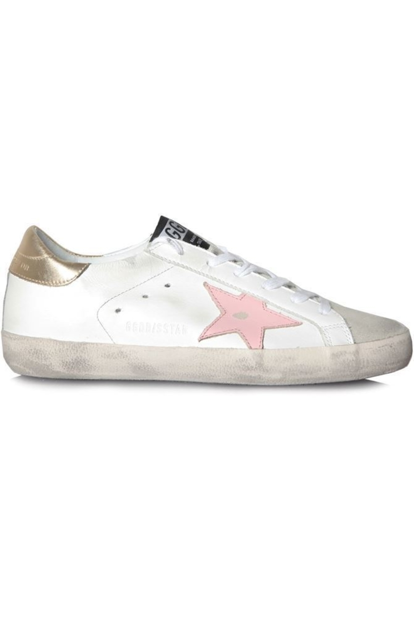 Golden Goose Deluxe Brand Superstar Sneakers with Pink Star Shoes