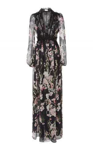 Giambattista Valli Nero Long Dress Dresses