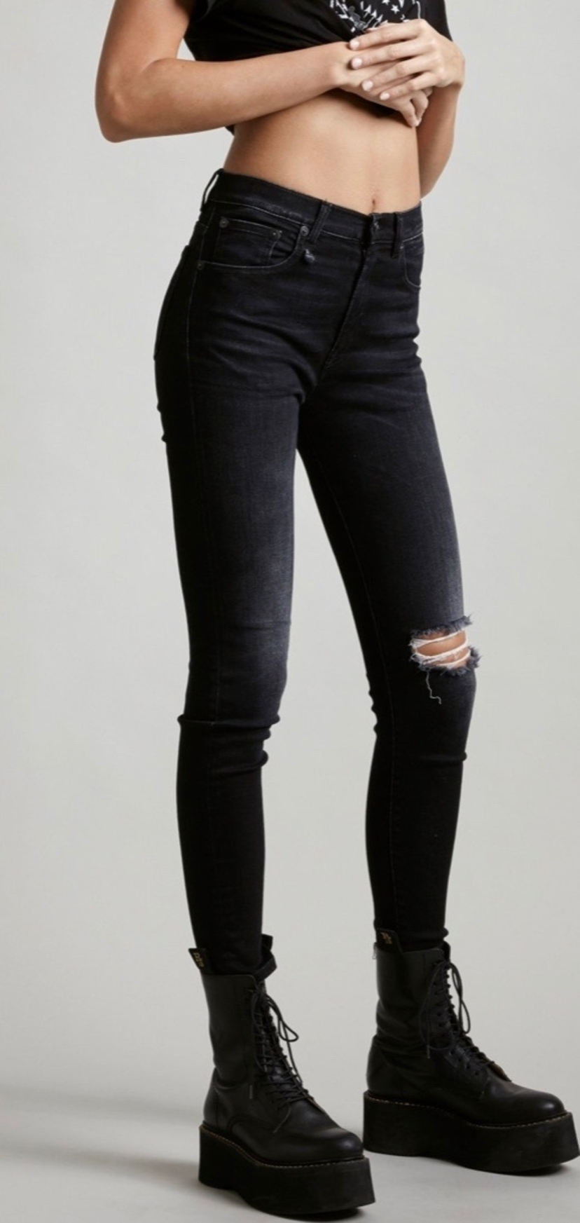 R13 High Rise Skinny Jean Pants