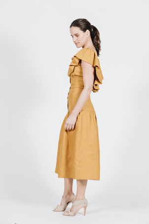 Sea Goldie Ruffle Midi Dress Dresses