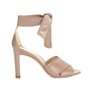 "Marion Parke ""Nappa"" Leather Bow Tie Heel in Blush (Originally $595) Sale Shoes"