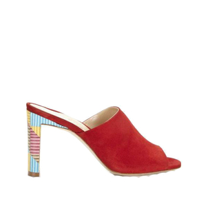 "Marion Parke ""Louisa"" Suede Classic Red Mules (Originally $595) Sale Shoes"