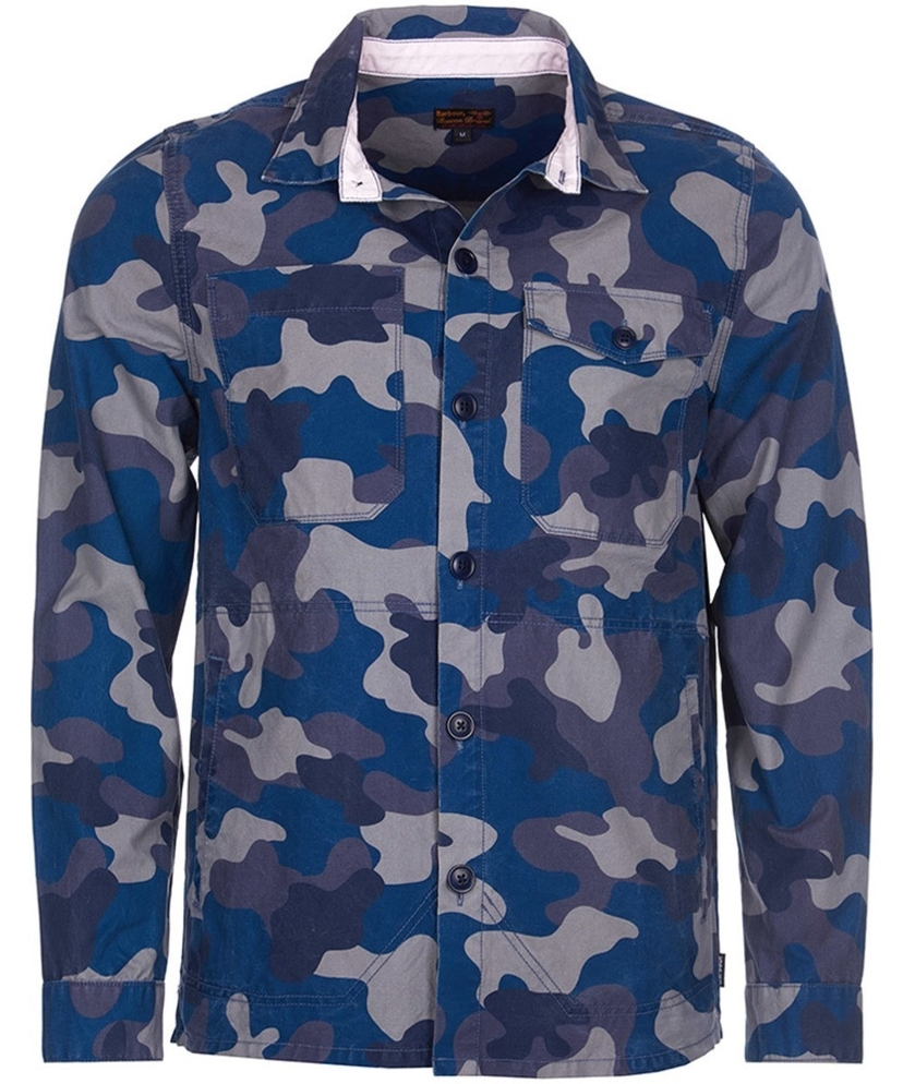 Barbour Camo Button Through Overshirt Men's Tops