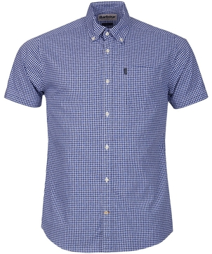 Barbour Hector Check Shirt in Navy Check Tops