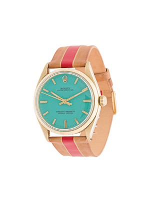 La Californienne Solid Gold Rolex with Aqua Face Jewelry