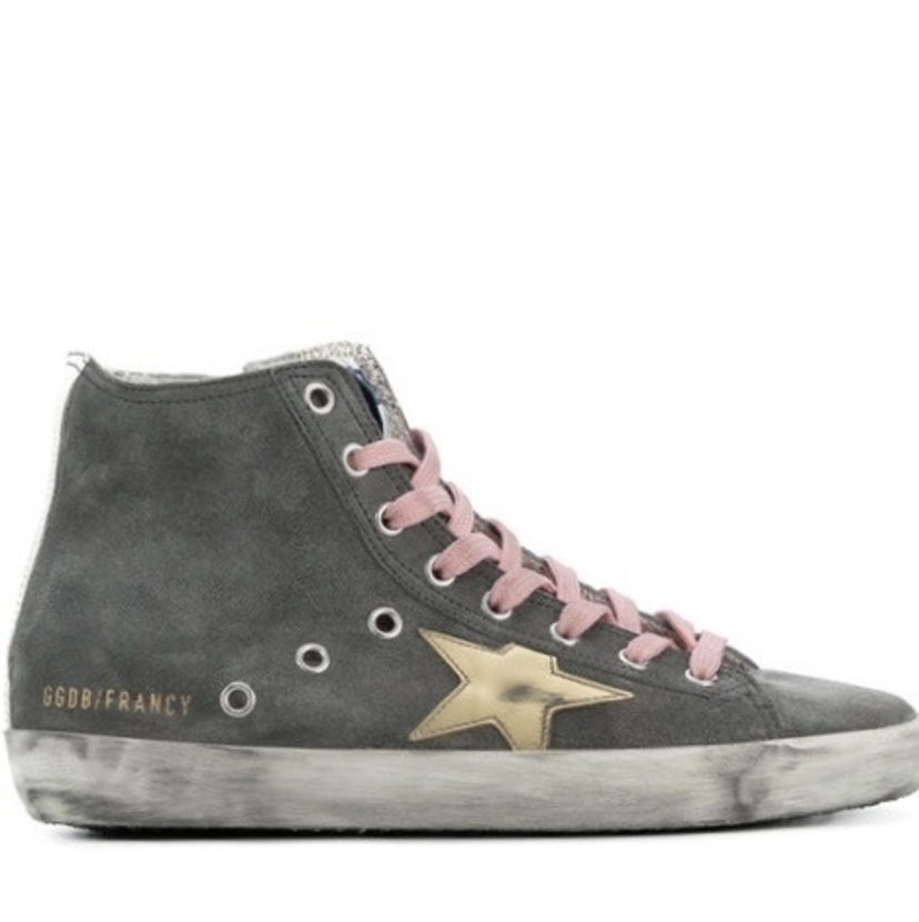 Golden Goose Deluxe Brand Golden Goose Grey 'Francy' hi-tops Shoes