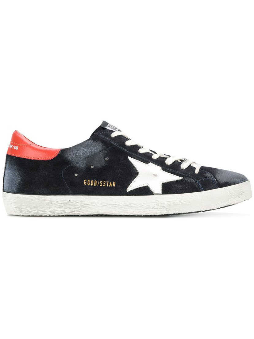 Golden Goose Deluxe Brand SUPERSTAR SNEAKER BLUE/ORANGE/WHITE Men's