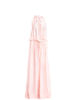 Lanvin Sleeveless Ruffled Drop Waist Dress Dresses