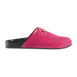 Gucci Rose Velvet New River Clogs Shoes