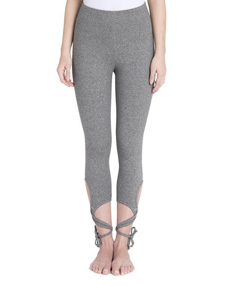 Wrapped Ankle Leggings in color Salt and Pepper Pants