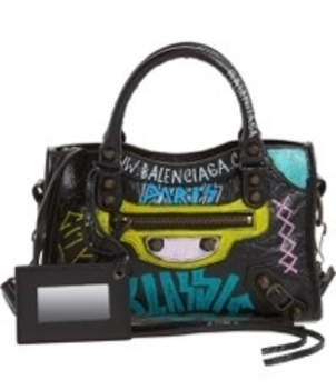 Balenciaga BALENCIAGA CLASSIC MINI CITY AJ GRAFFITI ALL OVER Bags
