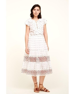 Sea Colette Embroidered Midi Dress Dresses