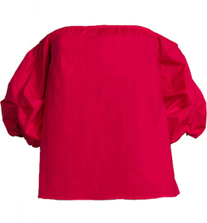 Petersyn Tara Off-Shoulder Top - Red Tops