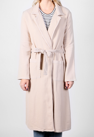 the lady  & the sailor Belted Coat - Ecru Outerwear