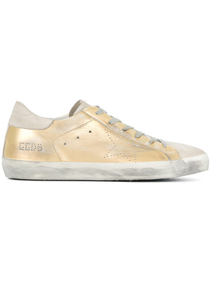 Golden Goose Deluxe Brand Superstar Sneaker in Gold Shoes