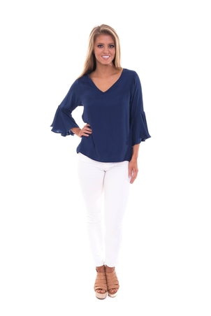 LaRoque Park Top in Navy Tops