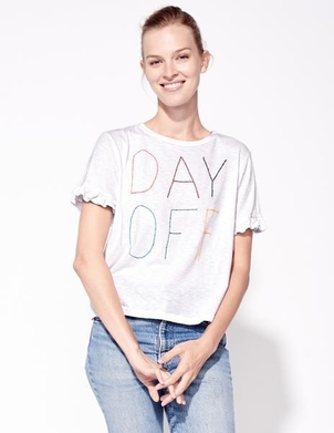 Sundry Day Off Mini Ruffle Tee Activewear