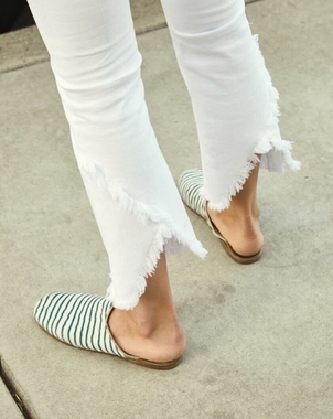 Citizens of Humanity White denim with 'flare' Pants