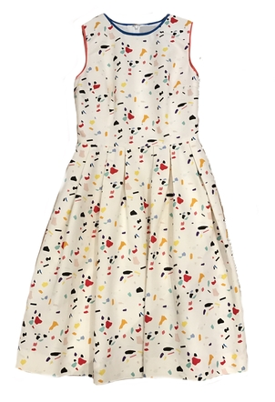 Carolina Herrera Sleeveless Aline Splatter Dress Dresses