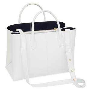 Mansur Gavriel MANSUR GAVRIEL MINI FOLDED BAG WHITE/BLUE Bags