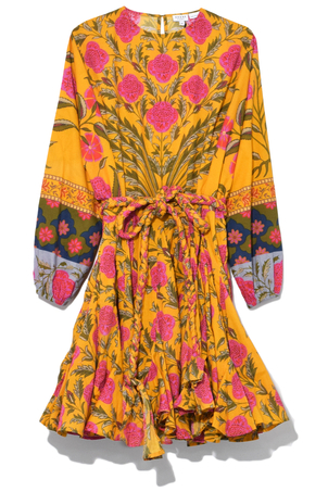 Rhode Resort Ella Dress in Pink Flower Dresses