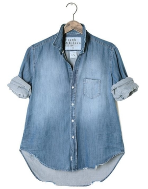 Frank & Eileen Elieen Button Down Denim Shirt Tops