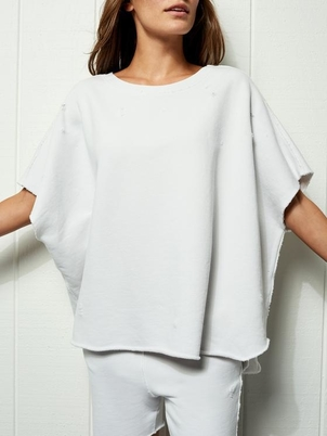 Tee Lab by Frank & Eileen Poncho - Ivory Tops