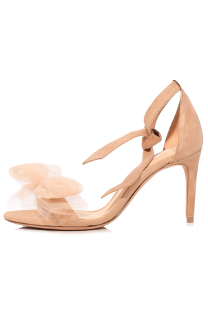 Alexandre Birman Clarita Tulle Sandal in Nude Shoes