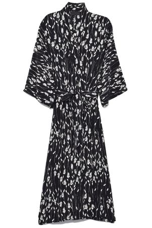 Nili Lotan Rey Kimono Dress in Black Dresses