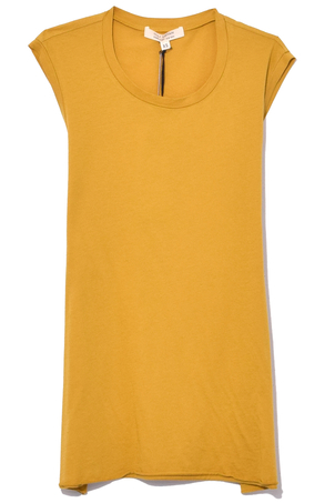 Nili Lotan Sleeveless Muscle Tee in Mustard Tops