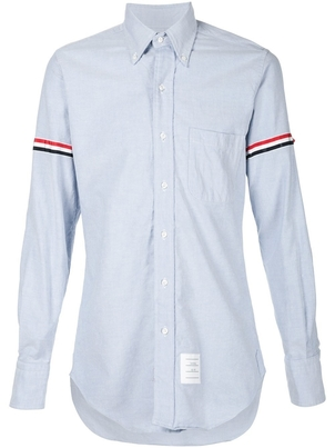 Thom Browne CLASSIC LONG SLEEVE OXFORD WITH ARMBAND Men's