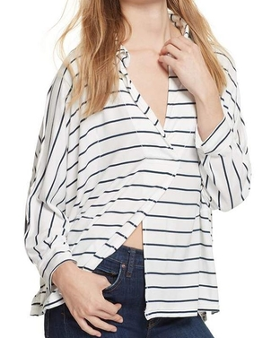 Free People Striped Can't Fool Me Tee Tops