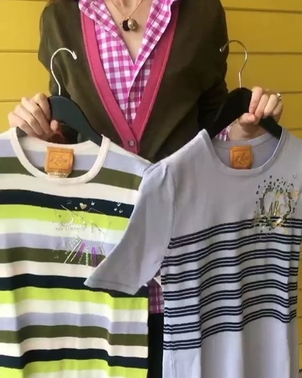Le Lion Collection Striped Sweaters Tops