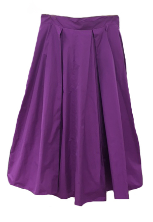 Maison Rabih Kayrouz High-waisted Satin Full Skirt Purple Skirts