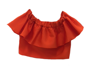 Maison Rabih Kayrouz Off Shoulder Ruffle Top Tops