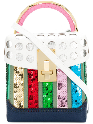The Volon Box Sequin Leather Bag Bags