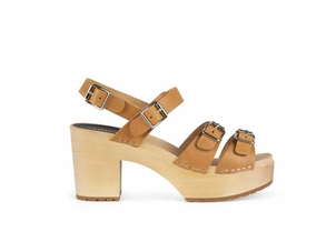 Swedish Hasbeens The Buckle Sandal in Nature Shoes