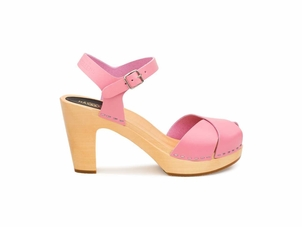 Swedish Hasbeens The Merci Sandal in Bubble Gum Pink Shoes