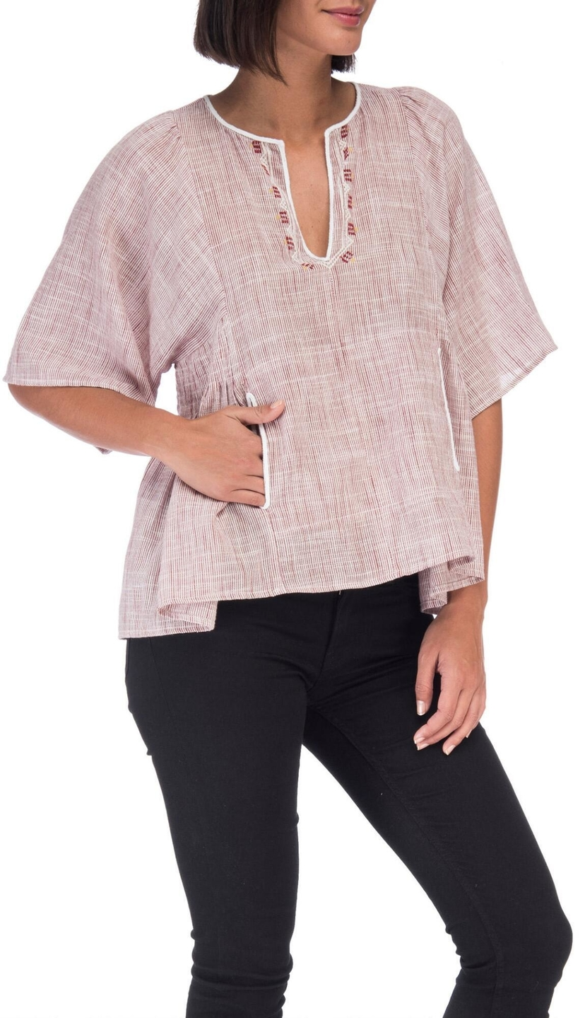Bobeau Willie Peasant Blouse Tops