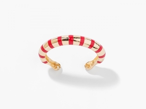 Aurélie Bidermann Maria Red Striped Bracelet Jewelry