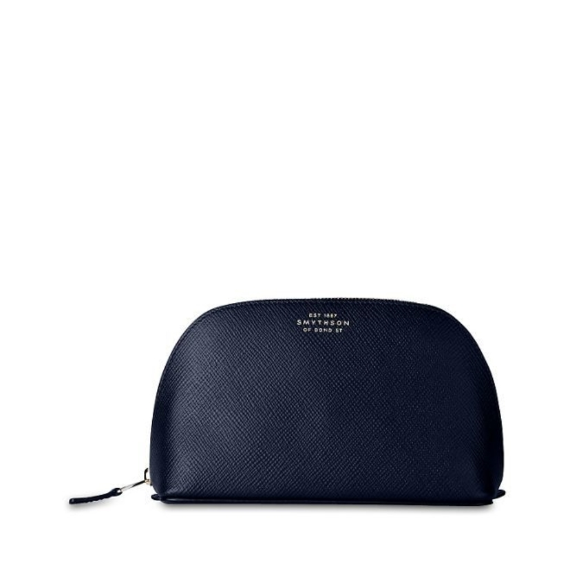 Smythson Cosmetic Case in Navy Accessories